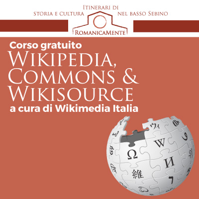 Corso wikipedia, commons e wikisource